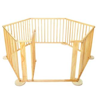 Baby Natural Wooden Playpen - includes free shipping to your door