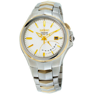 Seiko Coutura Quartz Movement White Dial Men's Watch SRN064 **Open Box**