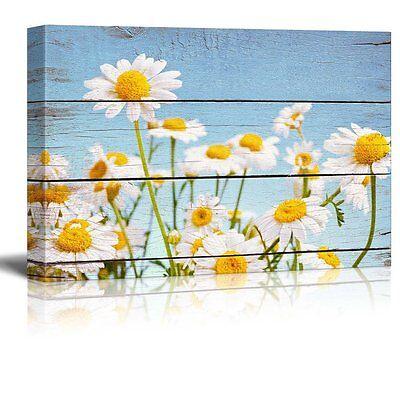 Wall26 - Daisy Field in Bright Sun - Canvas Wall Art Home Decor - 16x24 inches