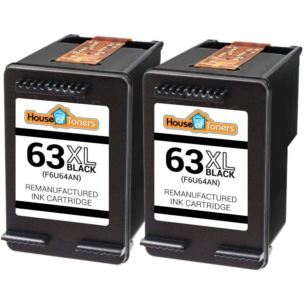 4Pk Black Color Ink Cartridges for HP 63XL Officejet 3830 3831 3832 3834 4650