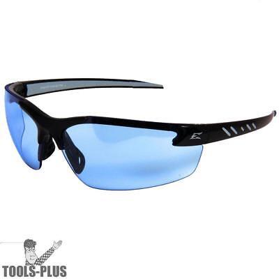 Edge Eyewear Dz113g2 Zorge Safety Glasses - Black With Light Blue Lens New