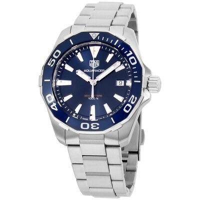 Tag Heuer Aquaracer Blue Dial Stainless Steel Men'S Watch Way111C.Ba0928