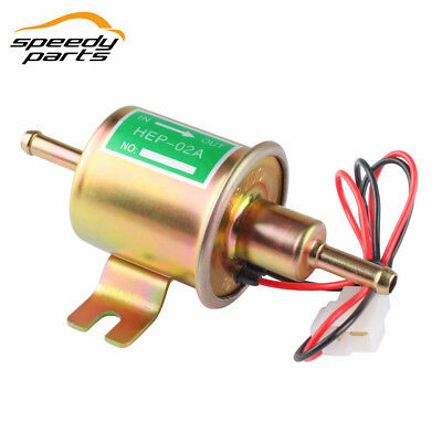 HEP-02A 12V New Gas Diesel Inline Low Pressure electric fuel pump Golden
