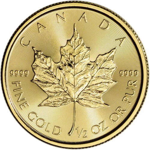 2018 Canada Gold Maple Leaf 1/2 oz $20 - BU