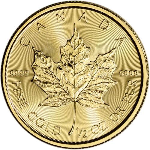 2018 Canada Gold Maple Leaf 1/2 oz $20 - BU