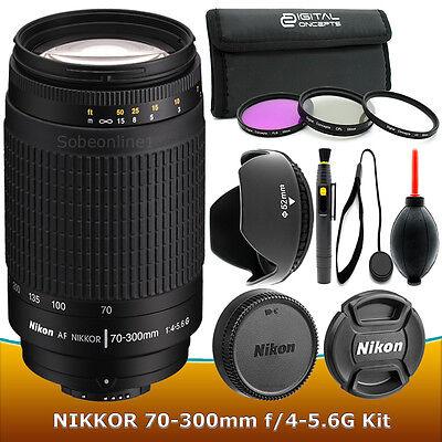 Nikon AF Zoom Nikkor 70-300mm f/4-5.6 G lens Filter Kit – Brand New