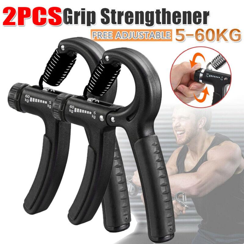 2X Hand Grip Strengthener Gripper Forearm Finger Exercise Strength Resistance