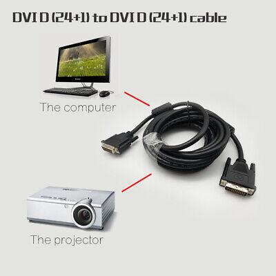 24 Pin Digital Dvi (24+1 Pin HD 1080P Digital Monitor DVI D to DVI-D Gold Male Dual Link TV Cable )