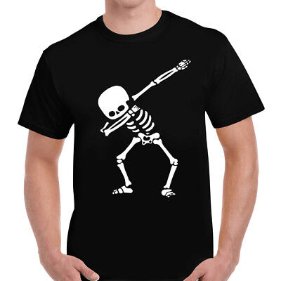 Herren Halloween Abtupfen Skelett Lustig Kostüm T-Shirt - Lustige Skelett Kostüme
