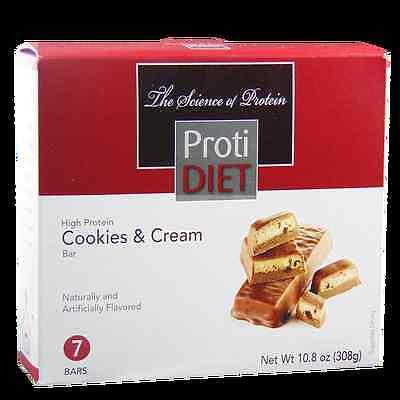 Diet Bar Cookie - ProtiDiet - High Protein Diet Bar | Cookies & Cream | Low Calorie, Low Fat