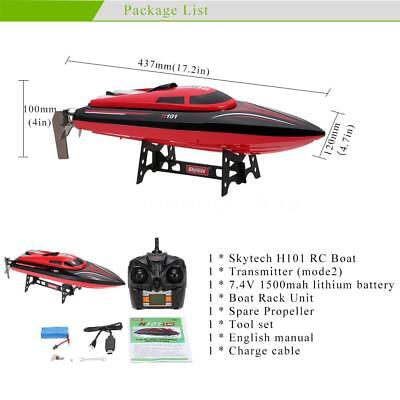 Skytech H101 2.4G Remote Controlled 180° Flip High Speed RC Racing Boat Hot P3H9