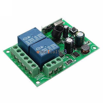 AC 110-220V 315MHz 2 CH Channel Wireless RF Relay Remote Control Switch Receiver
