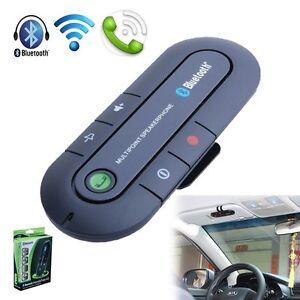 Latest Bluetooth 4.0 Multipoint Wireless Handsfree Sun Visor In-Car Speakerphone