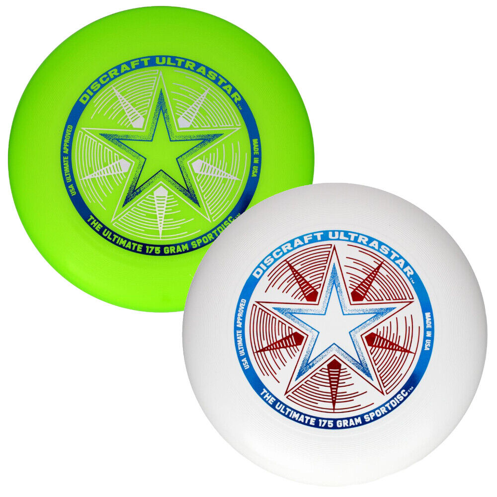 Discraft Ultra-Star 175g Ultimate Frisbee Disc 2 Pack White