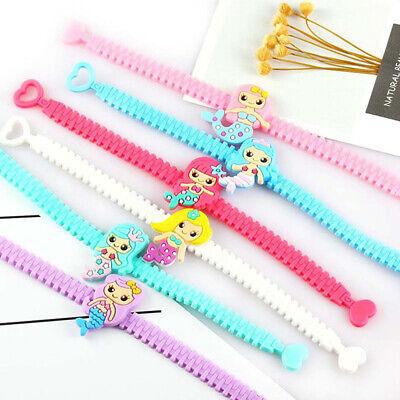Cartoon Unicorn Mermaid Flamingo Dinosaur Bracelet Silicone Rubber Wristband (Unicorn Bracelet)