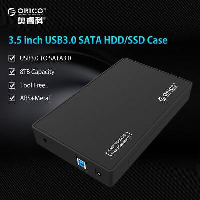 ORICO 8TB HDD 3.5 Inch Hard Drive Disk Enclosure USB 3.0 SSD Sata Case Box UASP