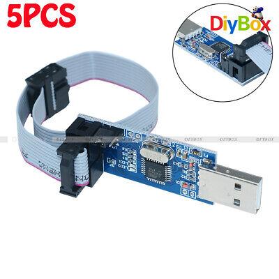 5pcs Usbasp Usbisp 3.3v 5v Avr Programmer Adapter 10 Pin Cable Usb Atmega8