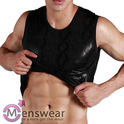 Größe S Herren XUBA Sexy Hemd Unterhemd Muskelshirt TankTop Master SM Schwarz