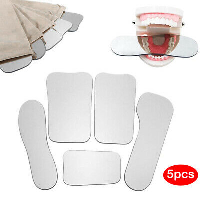 5set Orthodontic Intra-oral Dental Clinic Glass Photography Mirrors