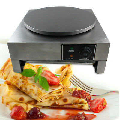 "3KW Commercial Electric Crepe Maker 16 "" Pancake Making Kitchen Machine 110V"