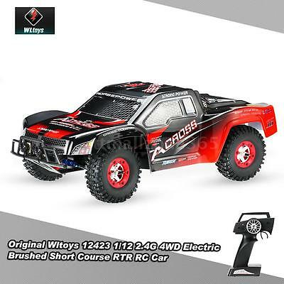 Wltoys 12423 1/12 2.4G 4WD Electric Brushed Short Course RTR RC Car Toys