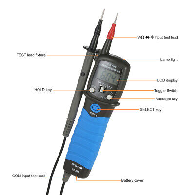 Digital Multimeter Voltage Meter Resistance Diode Continuity Tester U8u2