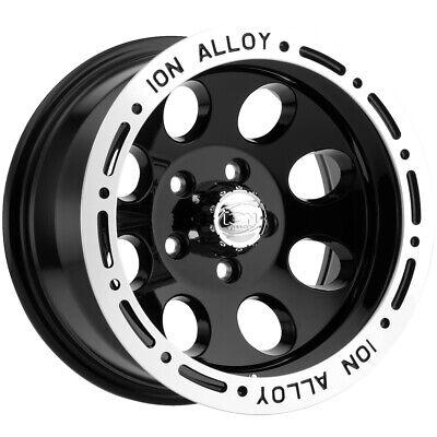 15 Inch Black Wheels - 4-Ion 174 15x8 5x4.5