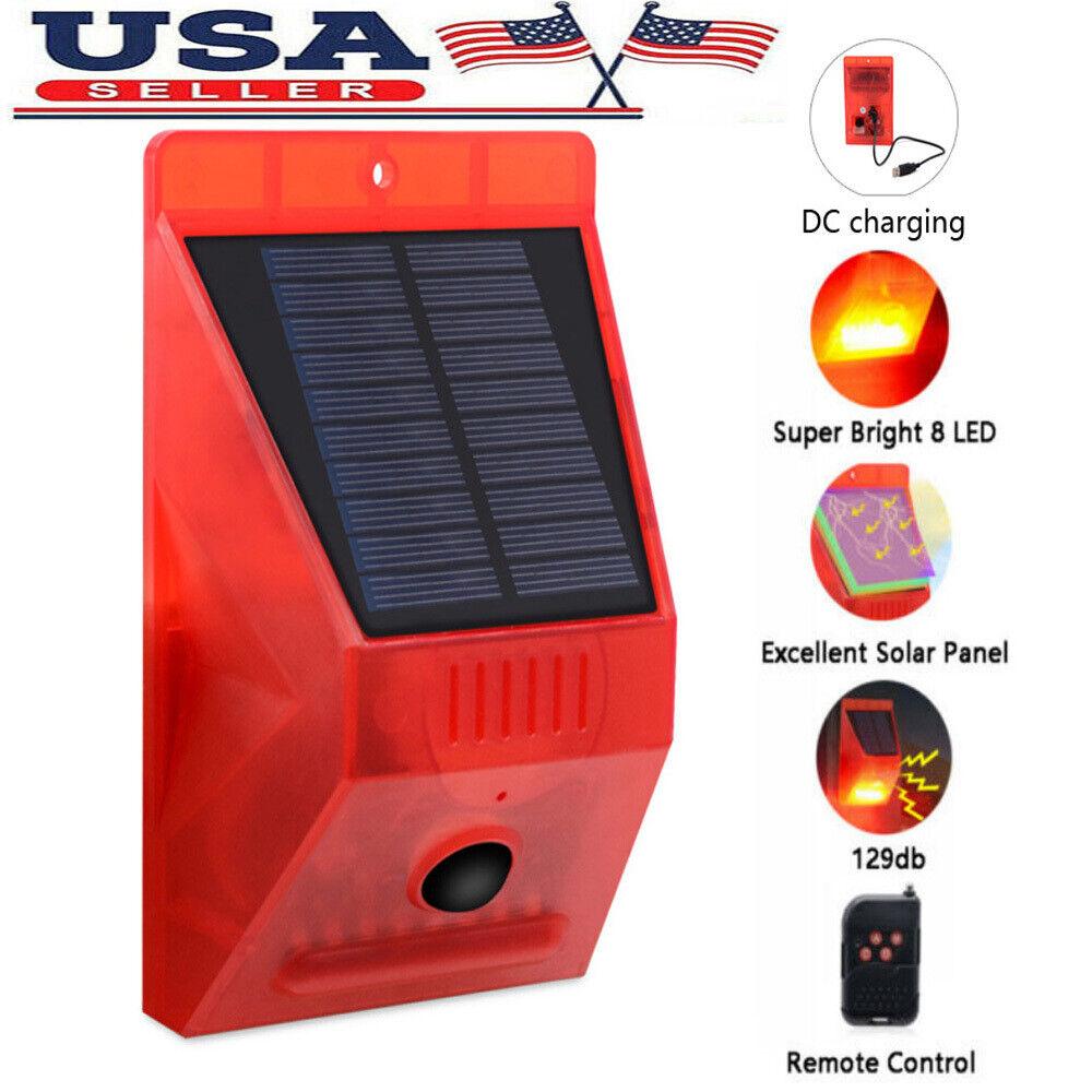 solar warning light 129db alarm strobe light
