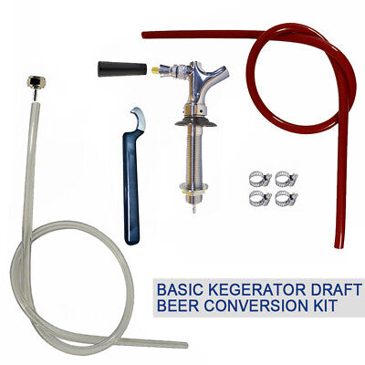 1 Set Tap Conversion Kit-draft Beer New Kegerator Faucet Wrench Tube White Hose