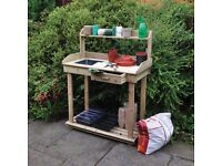 Large, Quality Potting Table - (New + FREE Local Delivery)