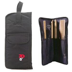 Rio Drumstick Bag Nylon Black Beater Mallet Brush Bag Storage Holder Gigbag New