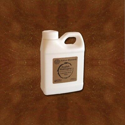 Concrete Acid Stain16oz Sample Size English Mahogany Rich Brown