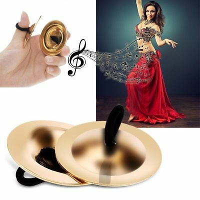 Gold Finger Musical Instrument Costume Belly Dancing Dancer Accessories