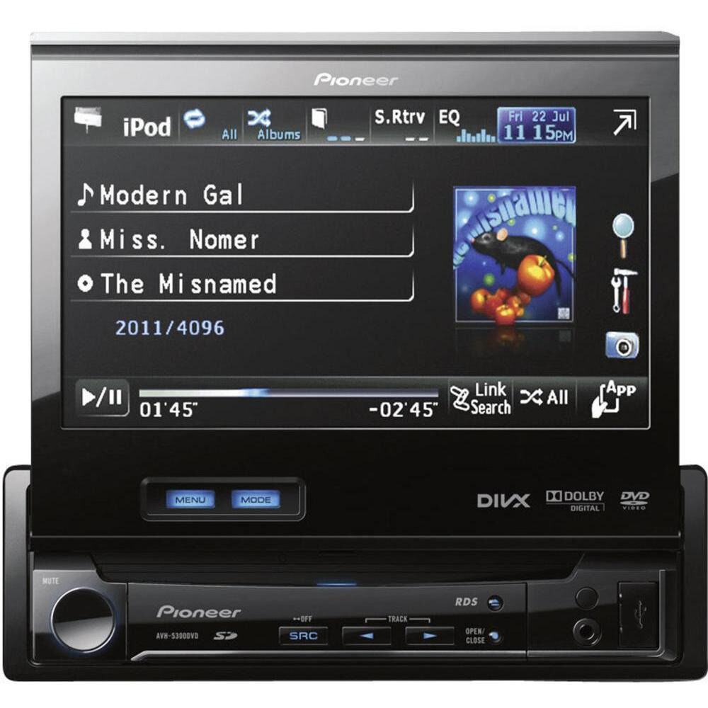 "Great Pioneer 1 DIN 7"" Screen DVD Car Radio Player"