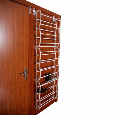 36-Pair 12 Layer Over-the-Door Shoe Rack Home Closet Storage Organizer White White Shoe Organizer