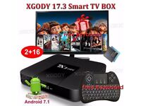NEW 2017 TX3 mini NEW KODI 17.3 Android 7.1.2 Quad Core Smart TV BOX KODI BOX & Keyboard 2GB+16GB HD