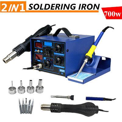 2 In 1 Soldering Rework Stations Smd Hot Air Iron Desoldering Welder Esd 862d