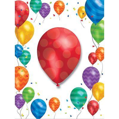 Balloon Invitations (Balloon Blast 8 Ct Invitations with attachment)