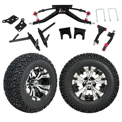 "GTW 6"" Club Car DS Golf Cart Lift Kit With A/T Tires & 12"" Wheels Fits 2004.5-Up"