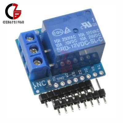 Wemos D1 Mini 12v Wifi 1 Ch Relay Shield Development Board For Arduino Esp8266