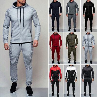 Men Tracksuit Jogging Coat Top Bottom Sport Sweat Suit Hoodie Trousers Pants covid 19 (Coat Top Pants coronavirus)