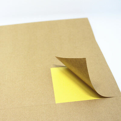 A4 Self Adhesive Sticker A4 Kraft Label Printing Paper For Inkjet Laser Printer