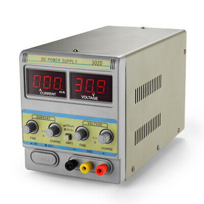 Dc Power Supply Variable 30v 2a Adjustable 110v Regulated Digital Display