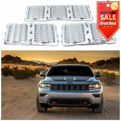 Chrome Front Mesh Grille Honeycomb Insert trim For Jeep Grand Cherokee 2014-2016 Abs Chrome Grille Insert