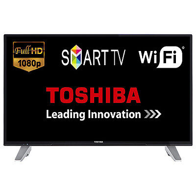 """Toshiba 43L3653DB 43"""" Smart LED TV WiFi Full HD 1080p HDMI With Freeview Play"""