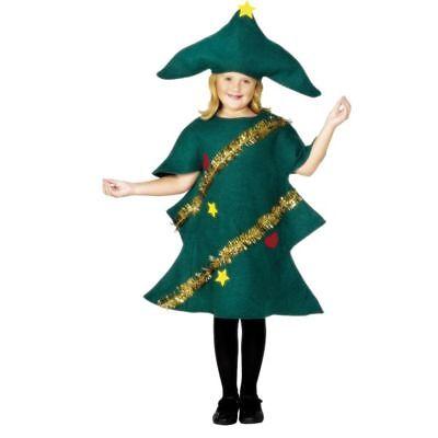 Smi - Kinder Kostüm Weihnachtsbaum - Weihnachtsbaum Kostüm Kind