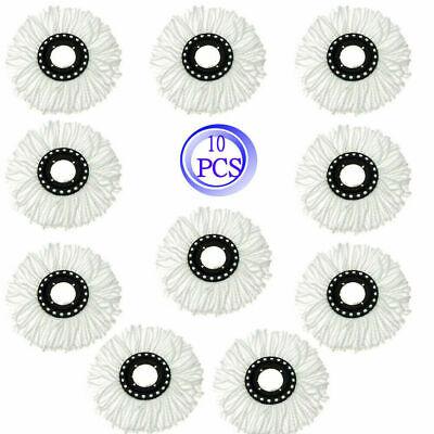 10 Pack Replacement Microfiber Mop Head Refill For Spin Mop - Mop Microfiber Mop
