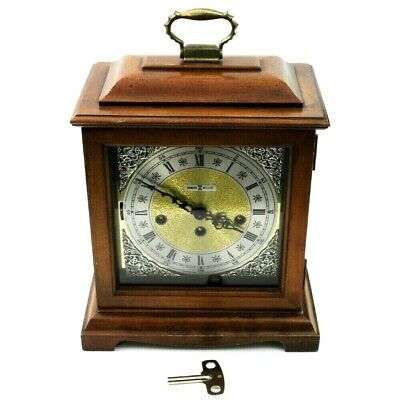 VINTAGE HOWARD MILLER 340-020 Westminster Chime Melody MANTEL CLOCK With Key