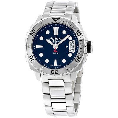 Alpina Diver Black Dial Stainless Steel Ladies Watch AL240LB3V6B