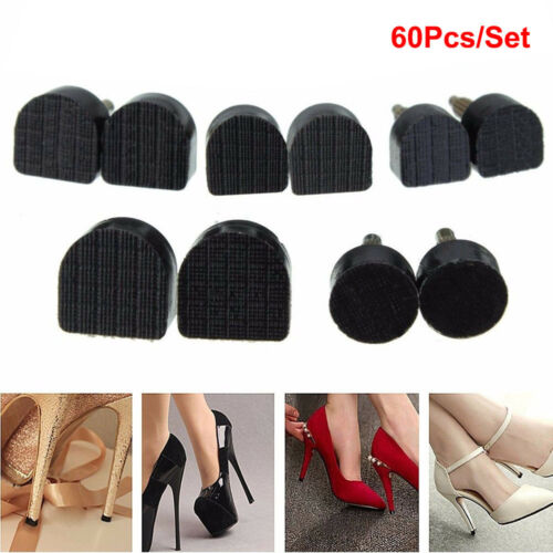 Details about 60PCS5 Sizes High Heel Shoe Repair Tips Taps Pins Dowel Lifts Replacement Stock
